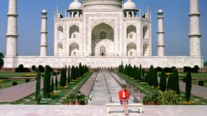 Diana, Princess of Wales prompted speculation about her marriage when she posed alone at the Taj Mahal