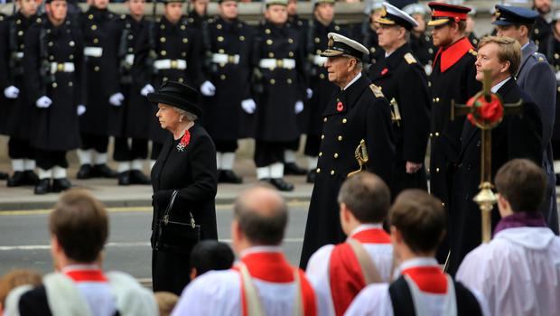 The Queen at the Cenotaph in 2013 (Gareth Fuller/PA)