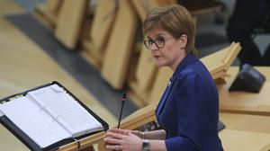 Nicola Sturgeon was taking part in a special Covid-19 interview airing across the Hits Radio Network on Friday morning (Fraser Bremner/Scottish Daily Mail/PA)