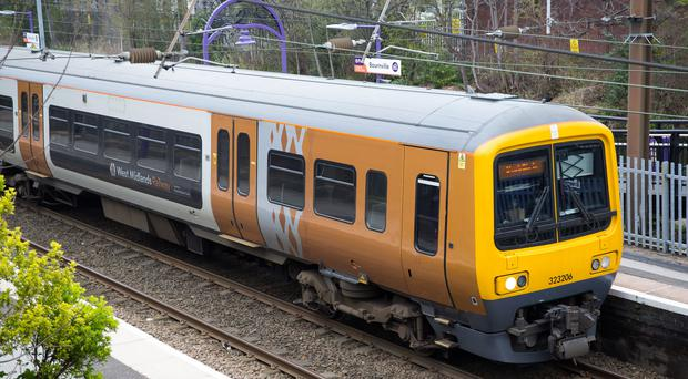 A West Midlands Railway Train at Bournville Station (Aaron Chown/PA)