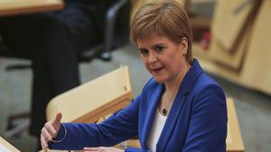 Nicola Sturgeon unveiled her four-phase plan for lifting lockdown to MSPs (Fraser Bremner/Scottish Daily Mail/PA)
