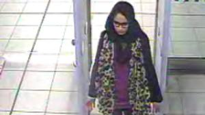 Shamima Begum at Gatwick airport (Met Police/PA)