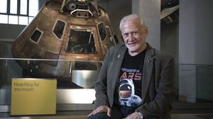 Apollo astronaut Buzz Aldrin has been visiting the Science Museum, London