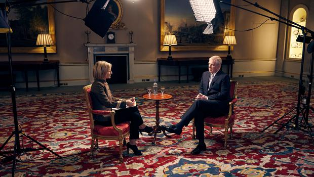 The Duke of York in an interview with BBC Newsnight's Emily Maitlis (Mark Harrison/BBC)