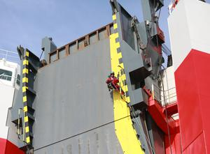 Greenpeace volunteers seized the cargo ship and forced it to turn round (Kristian Buus/Greenpeace/PA)