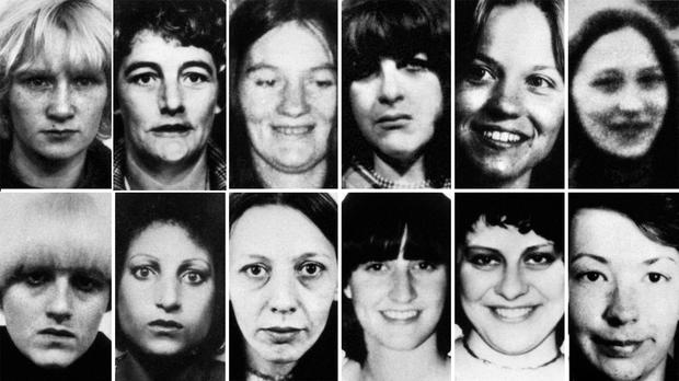 Twelve of the 13 victims of Peter Sutcliffe (PA)