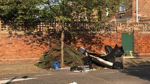 Garden and household waste fly-tipped in north London over Easter weekend (Emily Beament/PA)