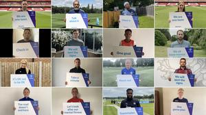 Some of the many participants backing the Mentally Healthy Football Declaration. Royal Foundation