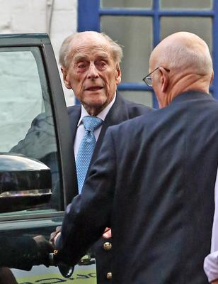 The Duke of Edinburgh leaving a hospital in London last year (PA)