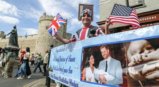 John Loughrey, 64, camped out in Windsor ahead of the royal christening (PA)