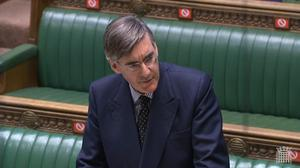 Jacob Rees-Mogg accused the First Minister of wanting a 'metaphorical wall' between Scotland and England (House of Commons/PA)