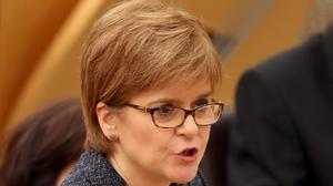 Nicola Sturgeon during First Minister's Questions at the Scottish Parliament in Edinburgh (Jane Barlow/PA)