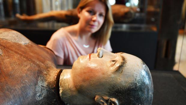 The funeral effigy of Queen Mary I (John Stillwell/PA)