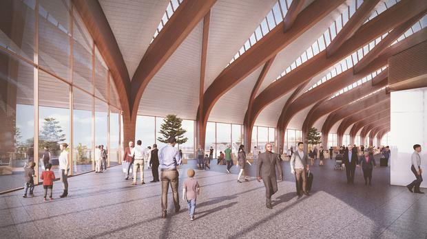 HS2 Ltd says Interchange station will maximise daylight and natural ventilation (Grimshaw Architects/PA)