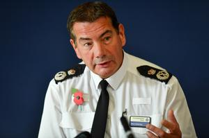 Chief Constable of Northamptonshire Police, Nick Adderley, said those who kill police officers should automatically face life imprisonment (Jacob King/PA)