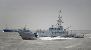 A Border Force cutter was used in the rescue