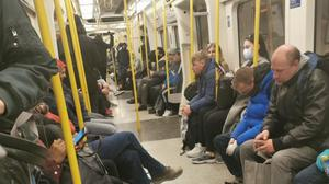 A Tube carriage the morning after Mr Johnson's broadcast (Jay Atkins)