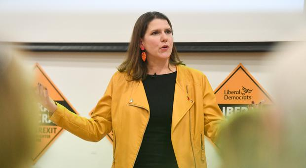 Liberal Democrat leader Jo Swinson speaks during the launch of Sam Gyimah's campaign in Kensington (Kirsty O'Connor/PA)