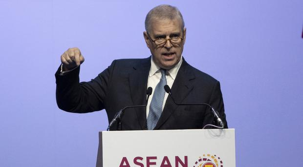 The Duke of York delivers a speech at the ASEAN Business and Investment Summit (AP/Sakchai Lalit)