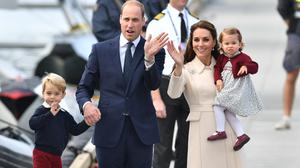 The Duke and Duchess of Cambridge, pictured with Prince George and Princess Charlotte, want their children to be able to express their feelings