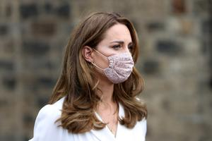 The Duchess of Cambridge wearing a face mask  (Chris Jackson/PA Wire)