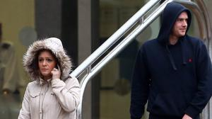 Katherine Cox and Danny Shepherd outside court (Gareth Fuller/PA)