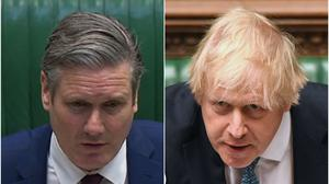 Sir Keir Starmer and Boris Johnson (House of Commons/Jessica Taylor/PA)