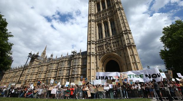 Climate strikers are calling for the voting age to be lowered to 16 as part of efforts to tackle the crisis (Yui Mok/PA)