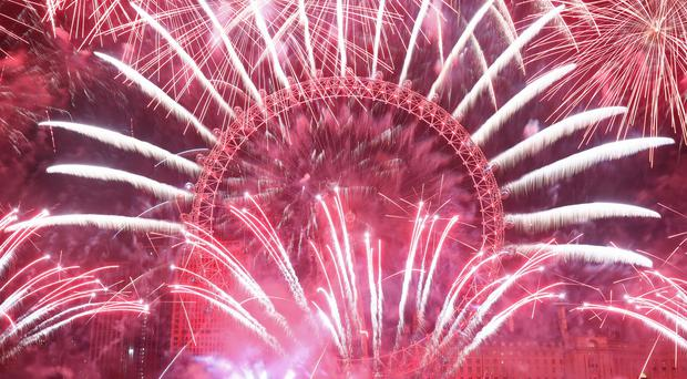 London's New Year fireworks are going to look ahead to the city hosting games in the Euro 2020 football tournament (Yui Mok/PA)