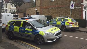 Police at the scene in Southfields, south-west London (Ryan Hooper/PA)