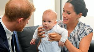 Archie with his parents the Duke and Duchess of Sussex (Toby Melville/PA)