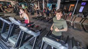 People work out at the PureGym in Leeds (Danny Lawson/PA)