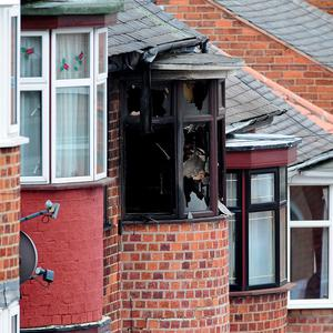 The scene of a house fire at Wood Hill, in the Spinney Hills area of Leicester which claimed the lives of four people (Rui Vieira/PA)