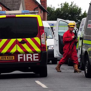 Fire crews in the Spinney Hills area of Leicester after four people died in a house fire (Rui Vieira/PA)