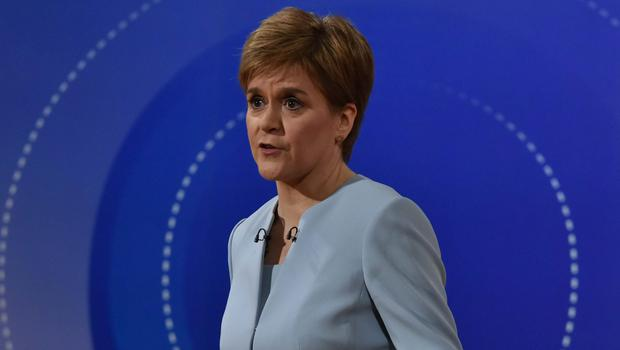 Ms Sturgeon faced a Question Time audience in Sheffield (Jeff Overs/BBC)