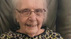 Mary Catterall, one of Britain's oldest residents, who is now recovering from the coronavirus.