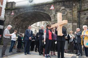 The inter-faith event in Derry yesterday