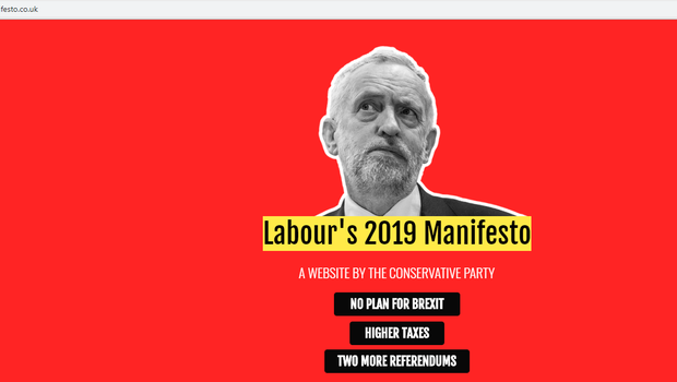 Labourmanifesto.co.uk has been set up by the Conservative Party. (PA)