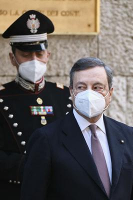 Newly appointed Prime Minister Mario Draghi may increase lockdown measures if infections continue to rise (Mauro Scrobogna/LaPresse via AP)