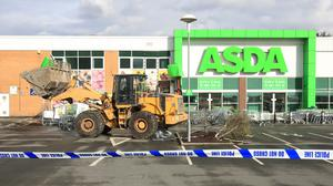 The Asda store in Tunbridge Wells, Kent, where thieves used a digger to gain access to a cash machine (Gareth Fuller/PA)