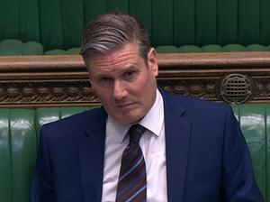 Labour leader Sir Keir Starmer during PMQs (House of Commons/PA)