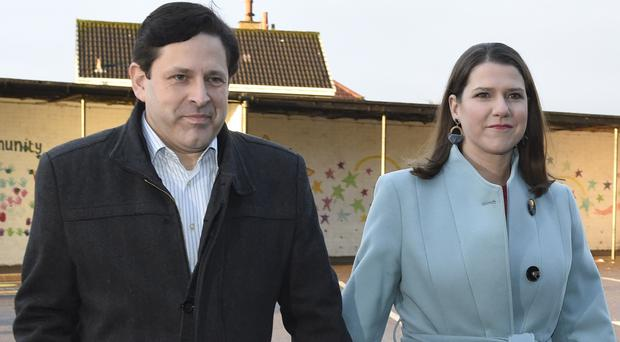 Liberal Democrat leader Jo Swinson and her partner Duncan Hames (Ian Rutherford/PA)