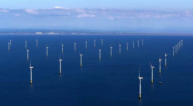 The new leasing round will allow for at least 7GW of offshore wind power (Peter Byrne/PA)