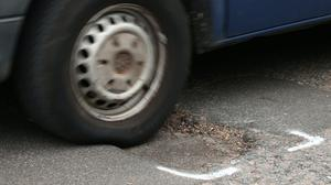 Some 1.1% of all breakdowns were related to potholes, new figures show (Yui Mok/PA)