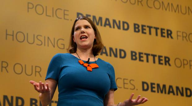 Liberal Democrat deputy leader Jo Swinson speaks at the party's autumn conference at the Brighton Centre in Brighton (PA)
