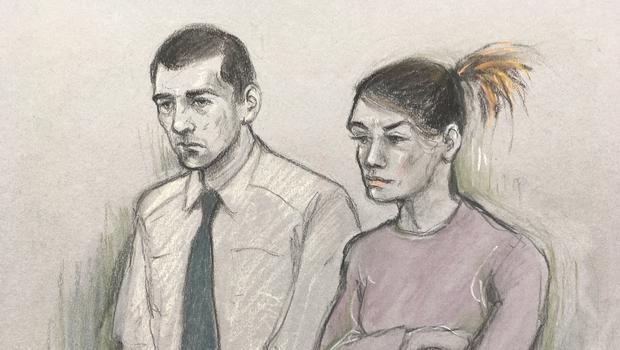 Court sketch of Stephen Waterson and Adrian Hoare (Elizabeth Cook/PA)