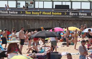 People on Bournemouth beach (Steve Parsons/PA)