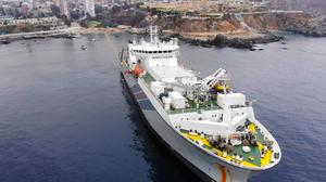 A ship preparing to install Google's Curie subsea cable (Google/PA)