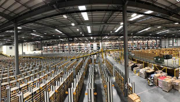 Items in the Amazon Fulfilment Centre in Dunfermline, Fife, ahead of Black Friday (Douglas Barrie/PA)