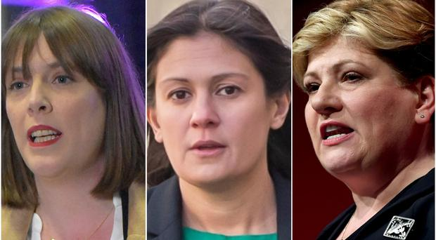 Jess Phillips, Lisa Nandy and Emily Thornberry (Matthew Cooper/Danny Lawson and Victoria Jones/PA)
